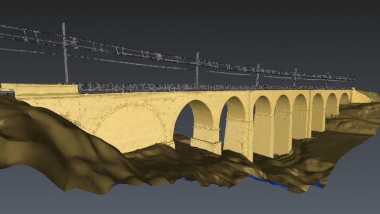 Ponte ferroviario lungo la tratta Roma-Viterbo