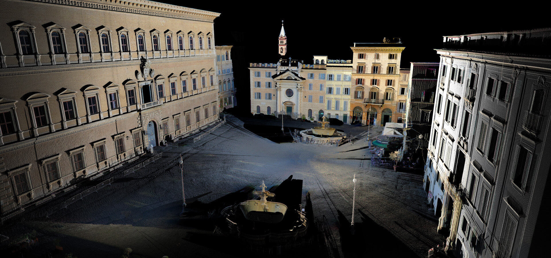 Rilievo Piazza Farnese in Roma