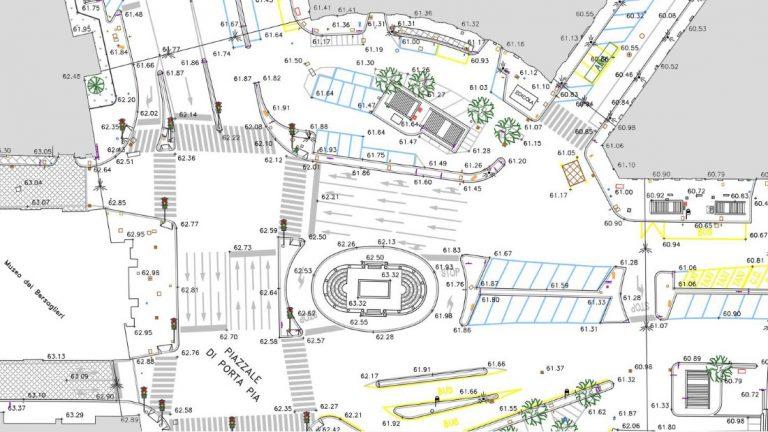 Riqualificazione funzionale del Piazzale Porta Pia in Roma
